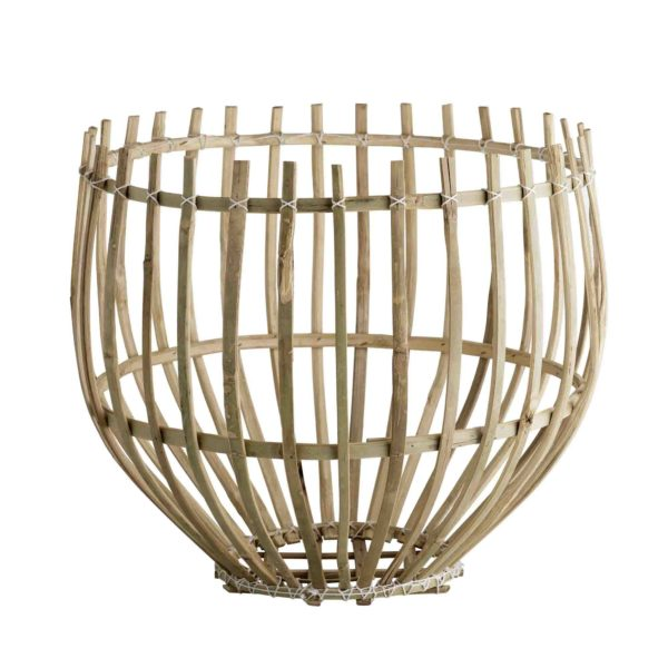 DOME, Panier suspension en bambou naturel, Ø43xH36cm