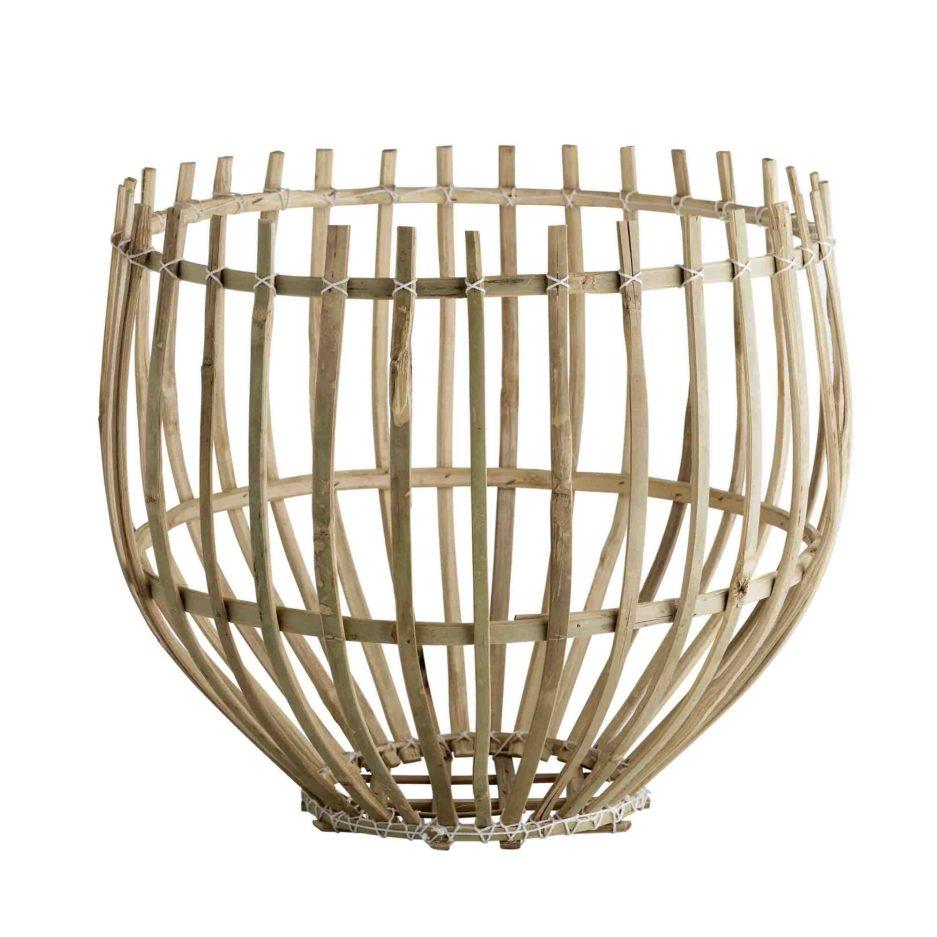 DOME, Panier suspension en bambou naturel, Ø43xH36cm