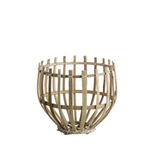 DOME, Panier suspension en bambou naturel, Ø25xH25cm