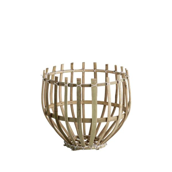 DOME, Panier suspension en bambou naturel, Ø25xH25cm