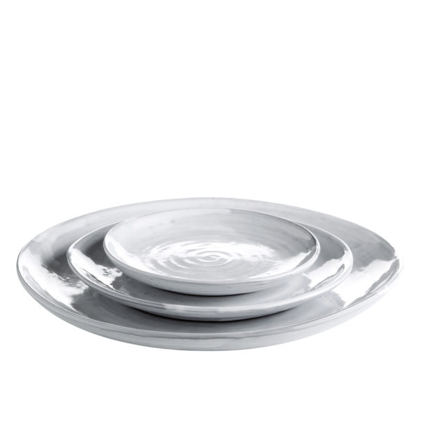 DELI, Assiette en céramique blanche, Ø15cm