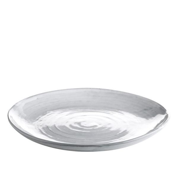 DELI, Assiette en céramique blanche, Ø30cm