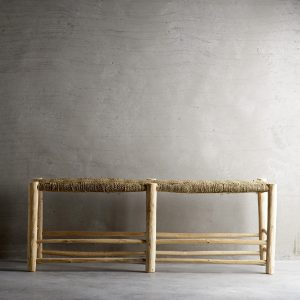 DOUM, Banc artisanal en bois brut, 40x138xH50cm