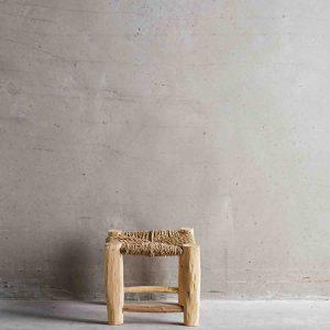 DOUM, Tabouret mini en bois brut, Hauteur 20cm