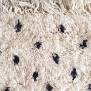 POLKA DOTS, Tapis berbère, pure laine, 220x160cm