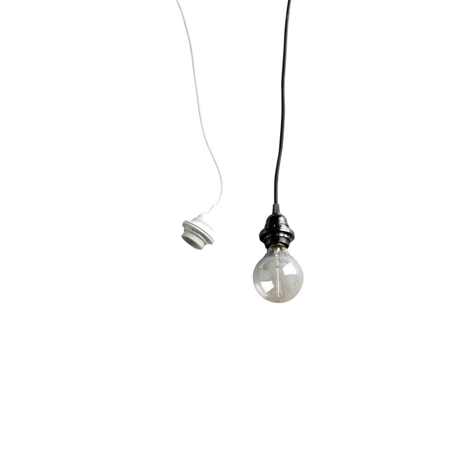 HANG, Electrification pour suspension, fil textile noir